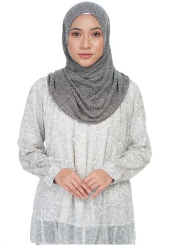 KASHKHA grey Jersey casual shawl-DK.GREY 3B73FAA6007FAAGS_1