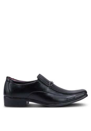 Rocklander black Metal Hardware Slip On Formal Shoes 92A49SHE718B86GS_1
