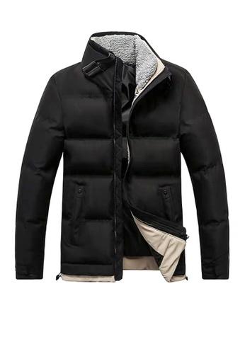 Twenty Eight Shoes black VANSA  Fashion Plush Collar Cotton Coat VCM-C011 6D9F9AA89947B6GS_1
