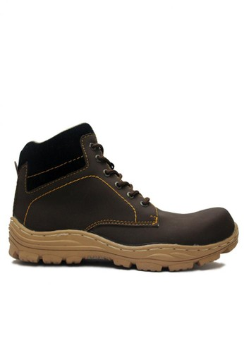 Cut Engineer brown Cut Engineer Safety Iron Force High Quality Leather Dark Brown CU226SH58HFDID_1