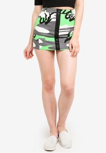 Factorie multi Camo Zip Front Skirt 03AF7AAD7FAF30GS_1