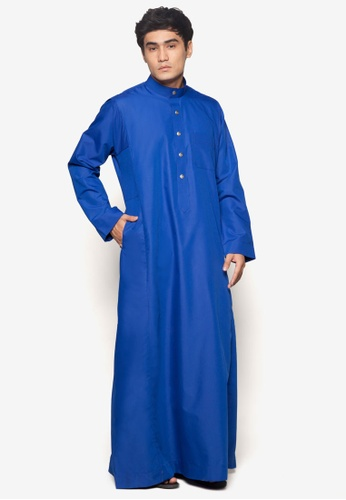 Amar Amran blue Jubah A Regular Fit AM362AA19NBGMY_1