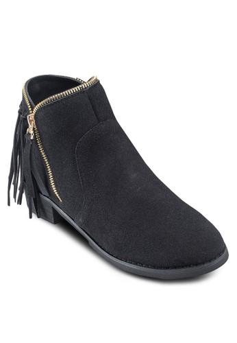 Cesprit hk storeovet 流蘇拉鍊邊飾踝靴, 女鞋, 靴子
