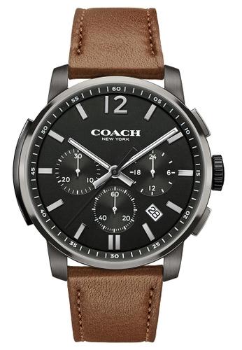 Coach grey Coach Bleecker Chrono Grey Men's Watch (14602017) E5CBFAC75D6A47GS_1