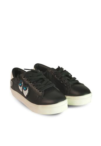HERAPOSH black Lia Platform Sneakers 12B72SH2B495E3GS_1