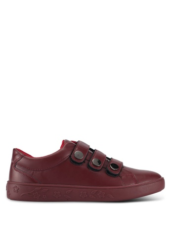 Something Borrowed red Velcro Tri Strap Sneakers 1B45ASHABA50A3GS_1