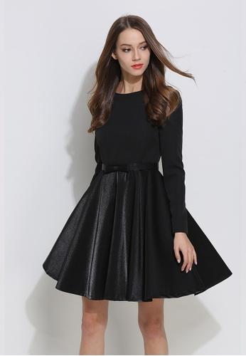 1f952beae14e Sunnydaysweety black HK Designer Brand Lace Stitching Black One Piece Dress  S01101 SU443AA16DWPHK 1