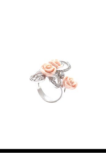 Celline Silver pink Three Roses Ring E3C50AC080AD02GS_1