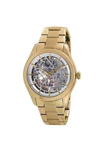 Kenneth Cole gold Kenneth Cole Automatic Gold Skeleton Dial Watch KE854AC22NOZSG_1