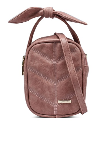 Verchini pink Sling Bag With Bow 392F6AC12F2AB6GS_1