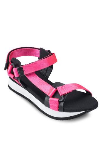 編織帶撞色厚底涼鞋, 韓系esprit 衣服時尚, 梳妝