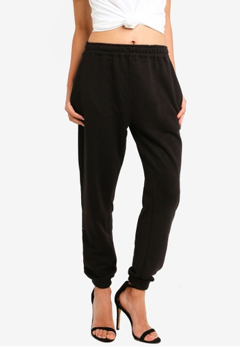 MISSGUIDED black Black Basic Joggers 3DC44AA845F49FGS_1