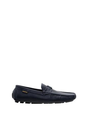 SEMBONIA blue SEMBONIA Men Microfiber Loafer (Blue) 83A1DSH414B74FGS_1
