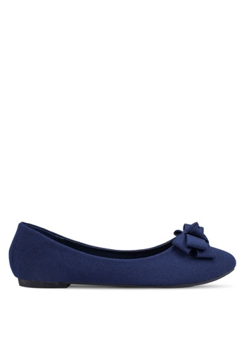Mimosa blue Pointed Flats With Bow Detail MI065SH0RSSMMY_1