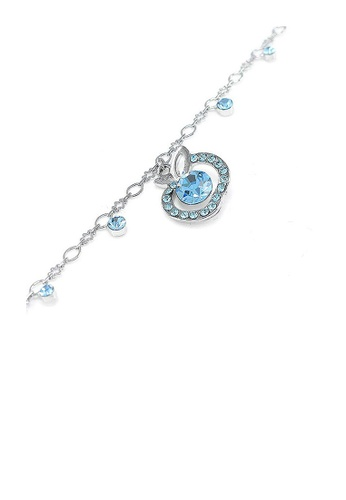 Glamorousky blue Elegant Apple Anklet with Blue Austrian Element Crystals BCE2DACCBFC7BCGS_1