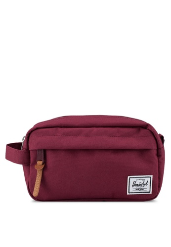 Herschel red Chapter Carry-On Travel Pouch 6B12FACB970F01GS_1