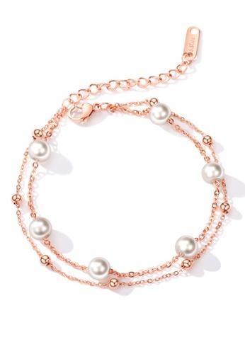 Trendyshop gold Pearl Bracelets B3025ACBD92DEFGS_1