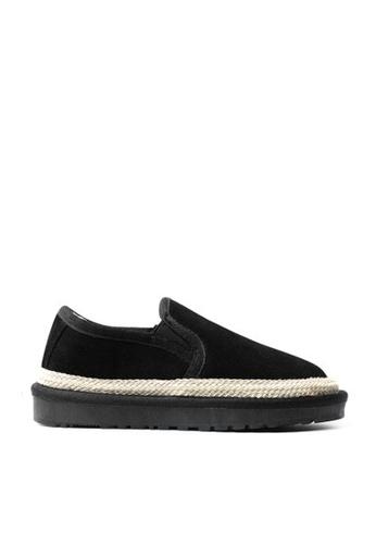 Twenty Eight Shoes black Cow Suede Linen Ribbon Winter Shoes VC8 5D9CASH2FE8A78GS_1