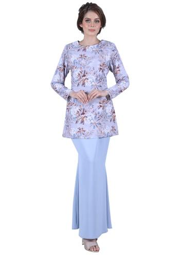 Kurung Elza from LARA NOUR in blue_1