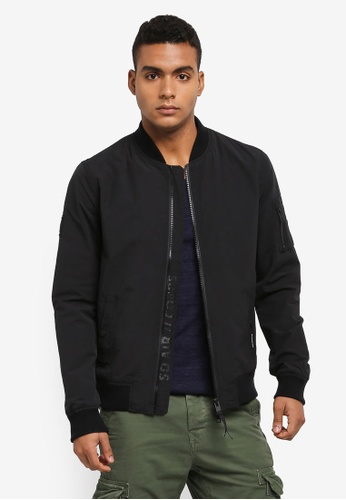 Superdry black Rookie Air Corps Bomber Jacket A9B97AAF831343GS_1