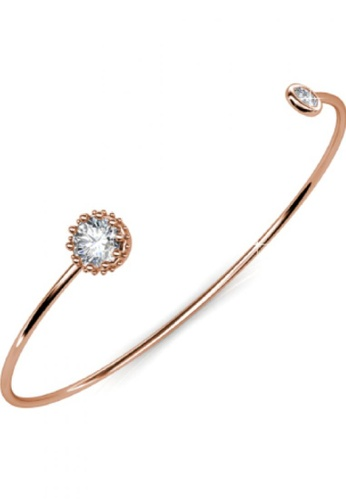 Her Jewellery gold Her Jewellery Crown Bangle (Rose Gold) with Premium Grade Crystals from Austria E3244ACD5DA97FGS_1