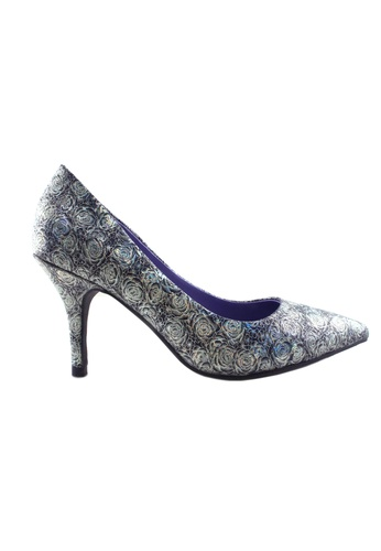 Flatss & Heelss by Rad Russel purple Shimmer Floral Heels FL655SH34HLXSG_1