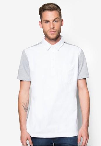 異材質拼接esprit 價位短袖襯衫, 服飾, 素色襯衫
