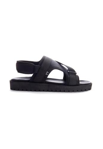 Yoke & Theam black Gray Sandal D2021SH17A19DBGS_1