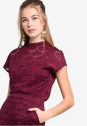 Shop Something Borrowed Lace High Neck Top Online on ZALORA Philippines 23f8d4461