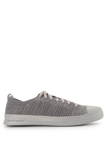 Hush Puppies grey Schnoodle Lace Up HU342SH0VSYDID_1