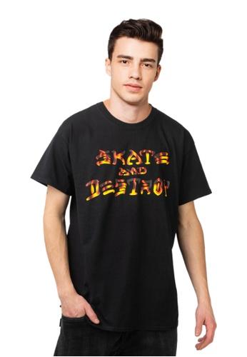 Thrasher black Thrasher Skate & Destroy BBQ T-Shirt Black 056BBAA099554DGS_1