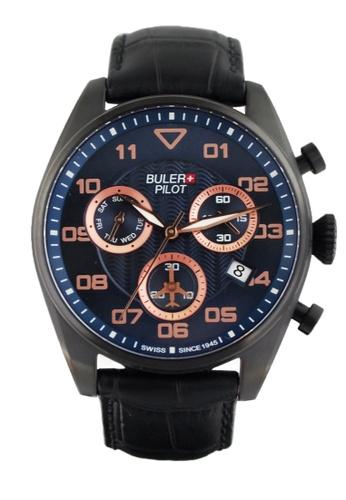 Buler black and blue Buler Sport Watch - Blue - Gents - Date- 6H BU689AC2VG1PHK_1