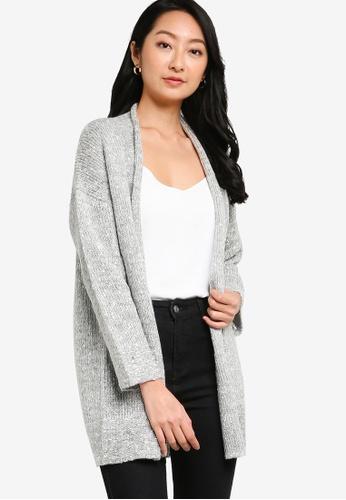 ZALORA BASICS 灰色 針織罩衫 10884AA0296CD5GS_1