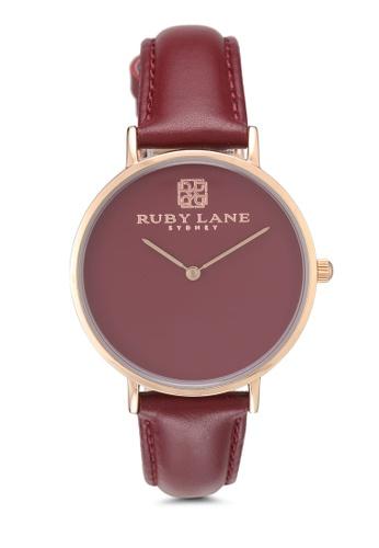 Ruby Lane 紅色 質感時尚36mm手錶 4F5EEACADF431FGS_1
