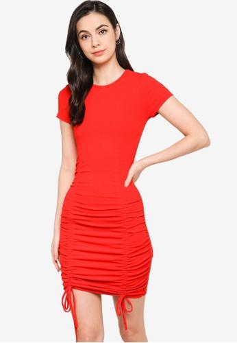 H&M red Drawstring Dress FC12FAA9B5634CGS_1