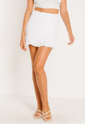 BAMBOO BLONDE white French Obsession Skirt DA950AA84C4187GS_1