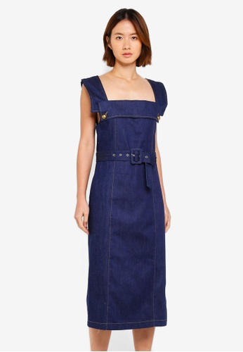 Haute Kelly blue Seon-Ok Denim Dress 1FD68AABC8525BGS_1