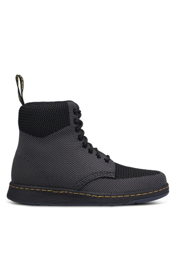Dr. Martens black and grey DM's Lite Ath Leisure Core Rigal Boots DR086SH0RJHYMY_1