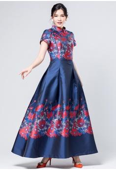 e72cdf57d3 Evening by Karen Liu multi Traditional Chinese Dress Inspired New Floral  Print Qipao E294BAA0613F95GS 1