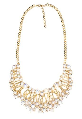 Istana Accessories Kalung Fiyan Pearl Fashion Necklace-Putih