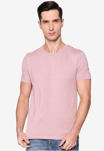 Burton Menswear London pink Pink Organic Cotton Short Sleeve Crew Tee 848D3AA7867C65GS_1