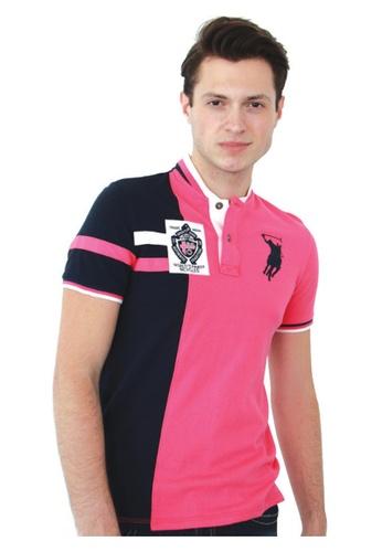 POLO HAUS multi Polo Haus - V Neck Knit Wear (Pink/Blue) PO783SE56YBFMY_1