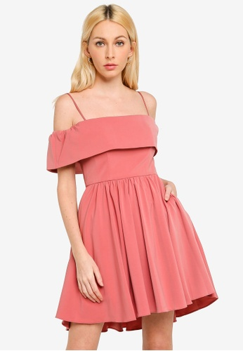 Forever New pink Tara Off Shoulder Prom Dress 69FC7AAC88D438GS_1