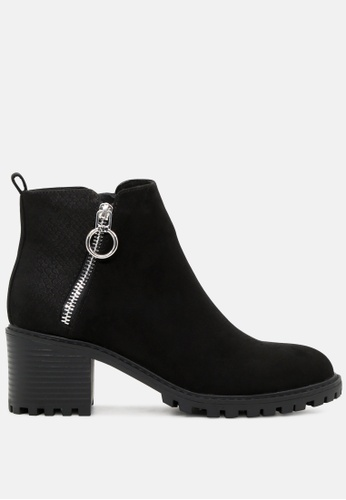 London Rag black Ankle Boots with Side Zippers SH1758 535AFSH321C2AEGS_1