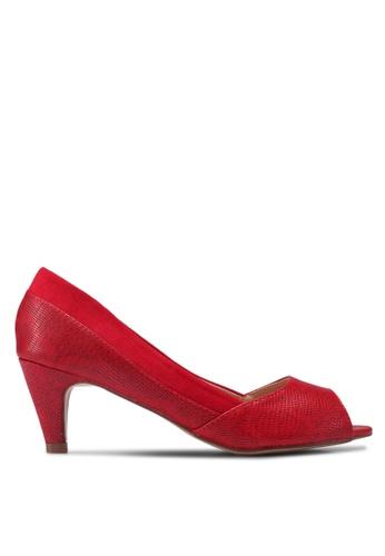 Velvet red Open Toe Classic Pumps 42375SH3694A61GS_1