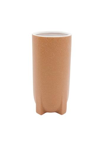 At Home orange and multi Milano Orange Large Ceramic Vase 2FB12HL3B60762GS_1
