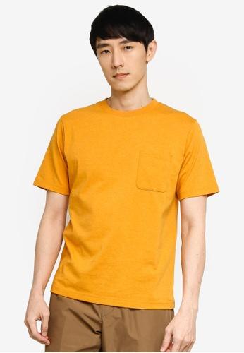 GLOBAL WORK yellow Pocket T-Shirt 844A0AA6FE026EGS_1