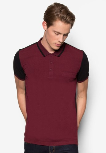 Colour Block Tipping Polo Shirt