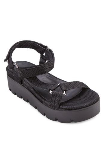 網眼繞踝zalora 手錶 評價楔形涼鞋, 女鞋, 鞋