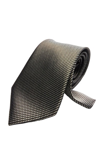 Well Suited black and silver Textured Necktie FB4BFACE4F84BEGS_1